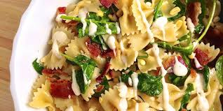 Pasta Salad Ingredients Easy Bacon Corn Spinach And Ranch Pasta Salad Recipe How To