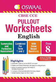 oswaal cbse cce pullout worksheets english for class 8 old