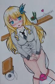 Anime girl on toilet  Pinterest