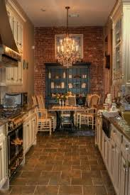 kitchen nice rustic country kitchen with travertine floor and