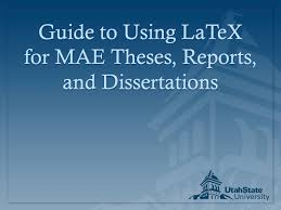 thesis writing with latex FAMU Online