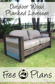 rogue engineer free plans outdoor wood plank loveseat