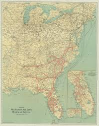 Large Map Of Florida by Florida Memory Seaboad Air Line Railroad Map 1928