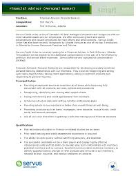 Banker Resume Example by Personal Banker Resume Sample Best Template Collection