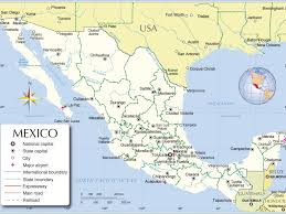 San Luis Potosi Mexico Map by Usa And Mexico Map Canada Mexico Map Mexicounited States Border