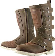 motorcycle biker boots mens icon one thousand 1000 elsinore oiled brown motorcycle