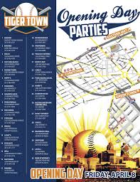 Detroit Michigan Map by Here U0027s A Map Of Detroit Tigers Opening Day Parties The Scene