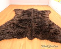 Log Cabin Area Rugs by Rug Perfect Faux Bear Rug For Your Pretty Space Room Decor
