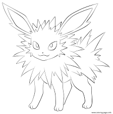 jolteon pokemon coloring pages printable
