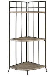 furniture unique black iron floating corner shelf with ornate