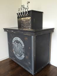 Beer Kegerator Vintage Crate Looking Home Brew Keezer Kegerator With 5 Pipe