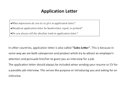Resume Application For Job by Applying For A Job