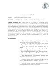 how to write a social work resume child and youth worker cover letter write