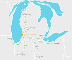 Chicago On The Map by South Haven Visitors Bureau
