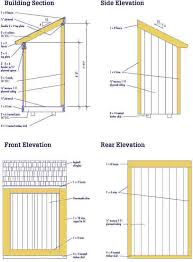lean to shed plans u2013 free diy blueprints for a lean to shed