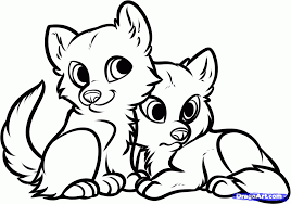 wolf pups coloring pages