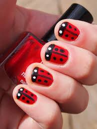 ladybug nail design nail art