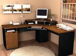 Solid Oak Office Furniture by Furniture Black Wooden Corner Desk With Shelves And Keyboard Solid