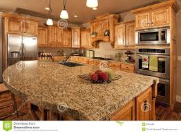 modern home kitchen with center island royalty free stock images