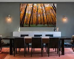 Artwork For Dining Room 1 Piece Orange Scenery Autumn Trees Wall Decor