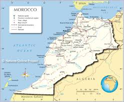 Spain Political Map by Political Map Of Morocco Nations Online Project