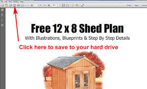 Diy Garden Shed Plans Free by Free 8x12 Garden Storage Shed Plans Youtube