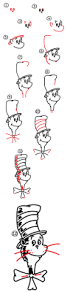 how to draw the cat in the hat art for kids hub