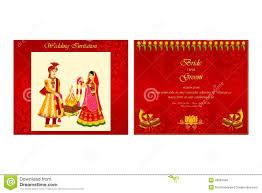 indian wedding invitation card stock vector image 48581700