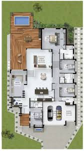 best ideas about split level house plans pinterest floor plan friday bedroom home with study nook and triple car garage