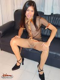 ladyboy pantyhose|Sex crazy ladyboy Nam in black pantyhose