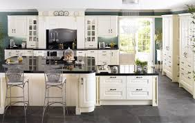 white painting cabinet with beige marble top white ceramic tile