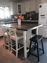Ikea Dining Table Hacks Ikea Stenstorp Kitchen Island Hack Here Is Another View Of Our