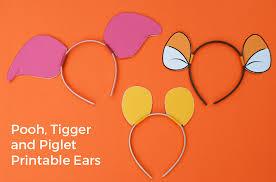 Winnie Pooh Dog Halloween Costume Diy Winnie Pooh Ears Piglet Ears Tigger Ears Merriment Design