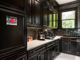 Ceramic Kitchen Backsplash Kitchen Wonderful Black Varnished Wood Kitchen Cabinet Ideas