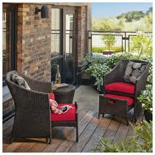 catchy patio chair with ottoman cozy inspiration patio chair with