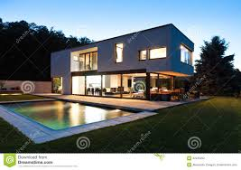 Villa Modern by Modern Villa With Pool Stock Photography Image 32425262