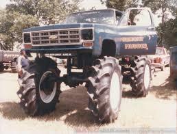 monster trucks in the mud videos bangshift com monster truck time machine