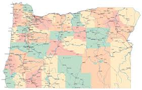 Large Map Of Usa by Large Administrative Map Of Oregon State With Roads Highways And