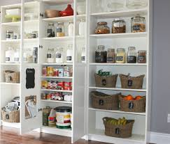 i love how this pantry was designed using ikea billy bookcases it