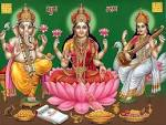 Wallpapers Backgrounds - Download Ganesh Laxmi Saraswati Wallpaper Wallpapers