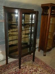 Oak Curio Cabinet Oak Curio Cabinets With Rounded Glass Doorsoak Curio Cabinets Tall