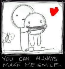 me haces sonreir