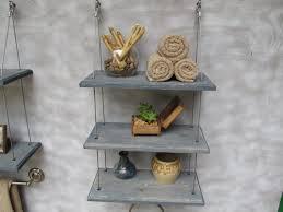 bathroom shelving ideas for towels brown polished ebony wood