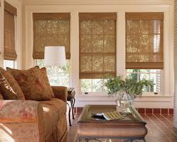 adorable ideas window treatments for large window with red motif