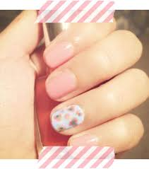 spring floral nail art college fashion