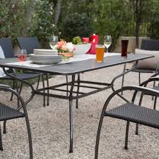 Mesh Patio Chairs by Ludwig 7 Piece Outdoor Dining Set With Stacking Wicker Chairs