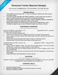 Sample Personal Resume by Personal Trainer Cover Letter Sample U0026 Tips Resume Companion