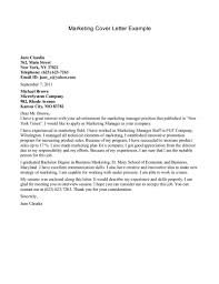Cover Letter  How To Create Cover Letter For Marketing Cover