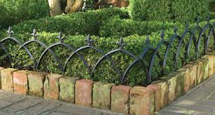 Design short garden fence metal arch models