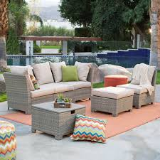 Black Wicker Patio Furniture Sets - coral coast south isle all weather wicker natural outdoor